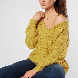 Beautiful Free People yellow sweater size small
